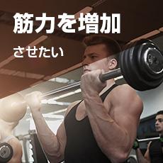 筋力を増加させたい