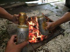 台風でキャンプ中止  okamoto