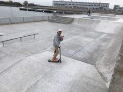 碧南スケートボードパークへ okamoto
