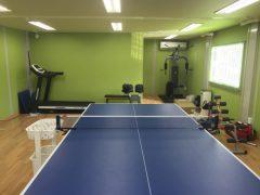 お客様の会社に「卓球場とホームジムを設置」して来ました。