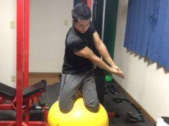 バランスボールトレーニング by石田